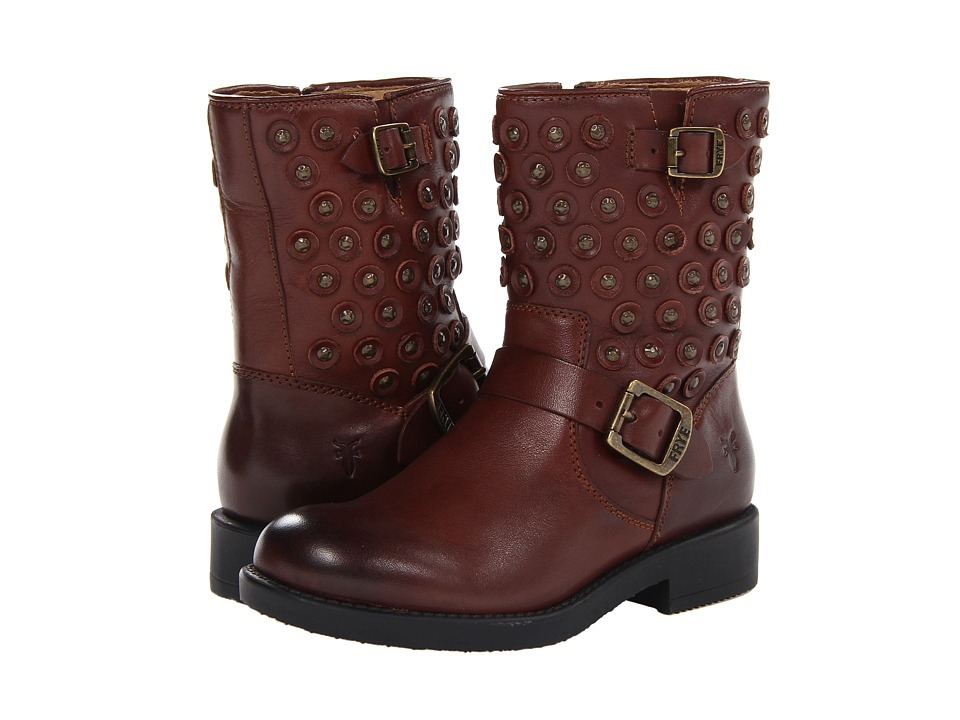 Frye Kids Jenna Disc Short Boot Little Kid/Big Kid Brown Girls Shoes