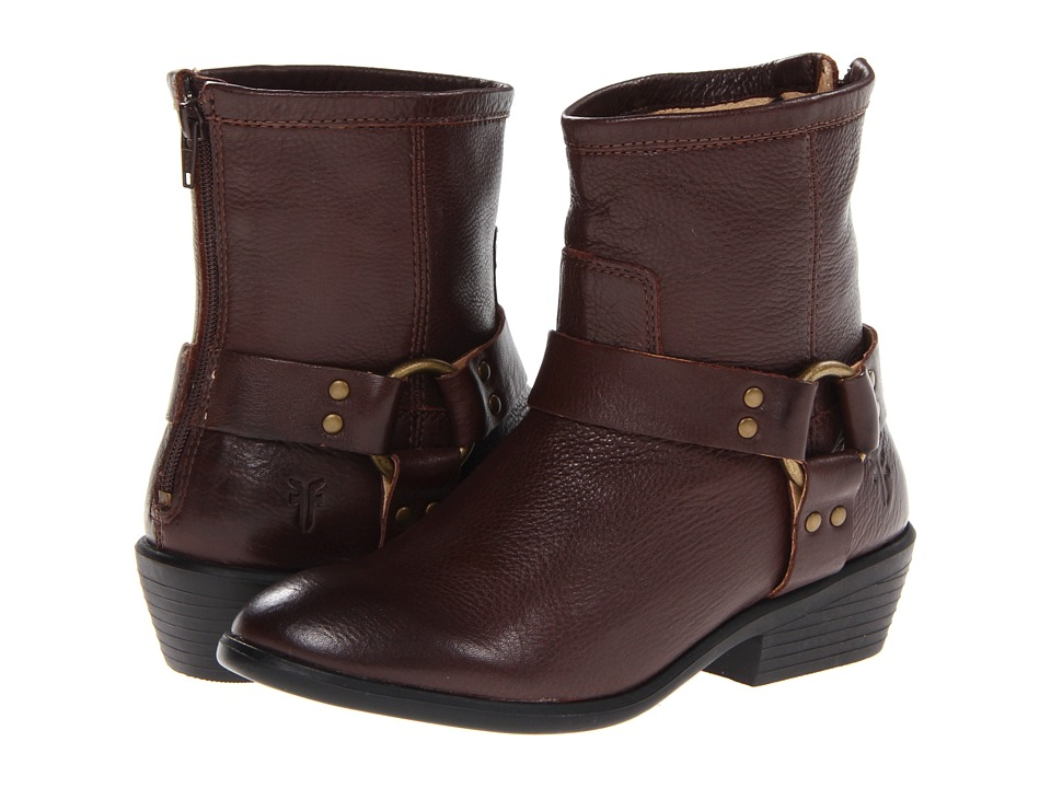 Frye Kids - Phillip Harness Short Boot (Little Kid/Big Kid) (Dark Brown) Girls Shoes