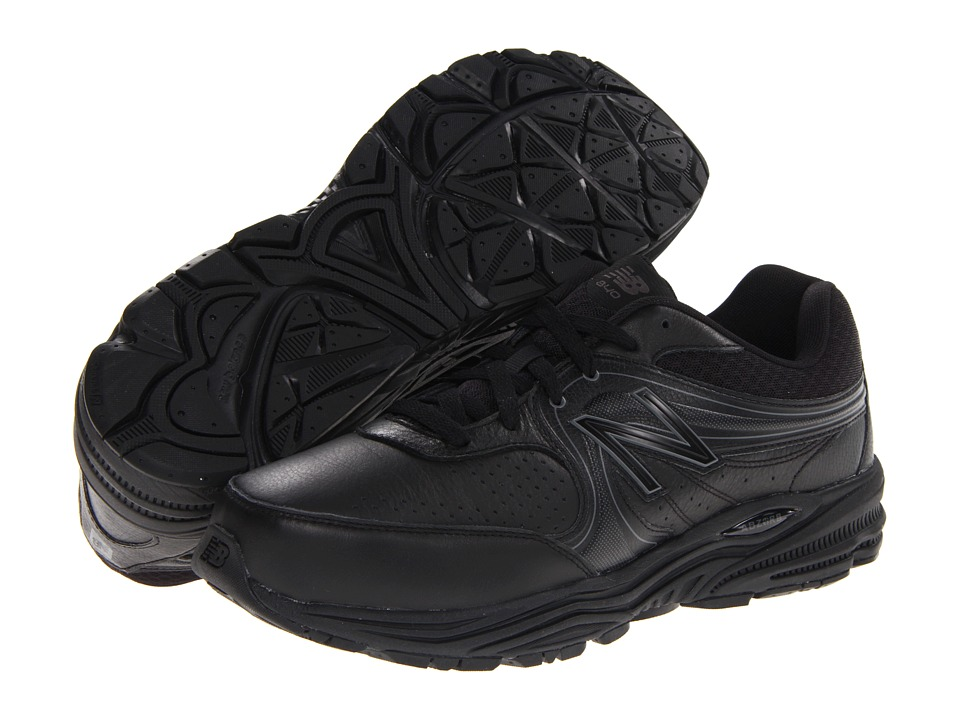 New Balance - MW840 (Black) Men's Walking Shoes