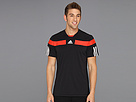 adidas - Adipower Barricade Crew Tee (Black/White/Hi-Res Red)