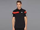 adidas - Adipower Barricade Traditional Polo (Black/White/Hi-Res Red)