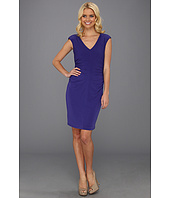 Ivy & Blu Maggy Boutique - S/S V-Neck Ruched Shift Dress