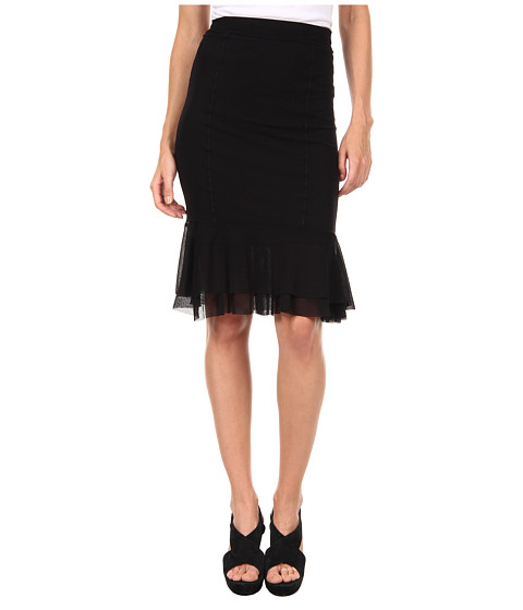 Pencil Skirt With Ruffle 40