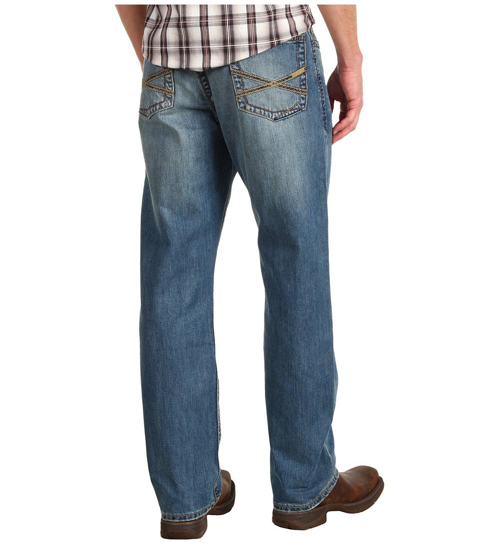 Stetson - Stetson 1520 Fit, Medium Wash, Back Knee Tacking
