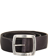 John Varvatos - 39mm Centerbar Buckle on a Washed Leather Strap