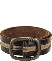 John Varvatos - 39mm Centerbar Buckle on a Strap with Canvas Inlay