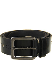 John Varvatos - 39mm Harness Buckle on a Stitch and Perf Detailed Strap