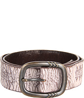 John Varvatos - 40mm Detailed Centerbar Buckle on a Washed Embossed Strap