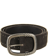John Varvatos - 40mm Centerbar Buckle on a Suede Strap w/ Embedded Stud Detail