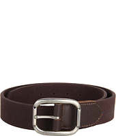 John Varvatos - 40mm Centerbar Buckle on a Canvas Strap w/ Leather Tabs