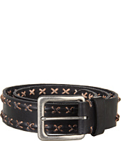 John Varvatos - 39mm Harness Buckle on a Strap w/ Stitched Lace Detail