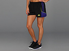 adidas - Speedkick Short (Black/Blast Purple/Electricity)