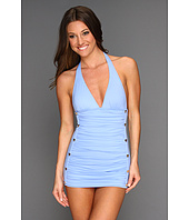 Juicy Couture - Button Halter Swimdress w/ Removable Soft Cups
