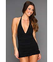 Juicy Couture - Shirred Halter Swimdress w/ Removable Soft Cups