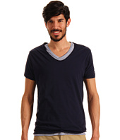 Scotch & Soda - S/S Double Layer V-Neck Tee