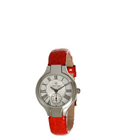 Philip Stein - Mini Round Watch On Red Grainy Calf Strap