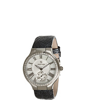 Philip Stein - Small Round Diamond Watch On Gunmetal Ostrich Strap