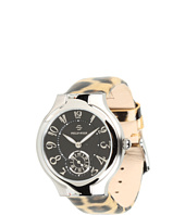 Philip Stein - Small Round Watch On Leopard Print Patent Strap