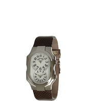 Philip Stein - Large Signature Watch On Natural Python Print Karung Strap