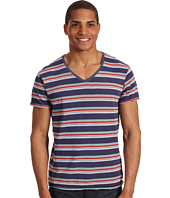 Scotch & Soda - Retro Stripe V-Neck Tee