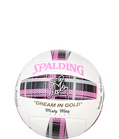 Spalding - Misty May Pink Plaid Stiched Composite Volleyball