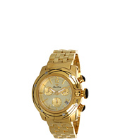Glam Rock - Lady SoBe 40mm Gold Plated Chronograph Watch with Diamonds- GR31118