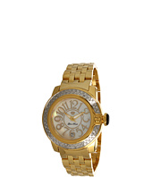 Glam Rock - Lady SoBe 40mm Diamond Gold Plated Watch- GR31009D