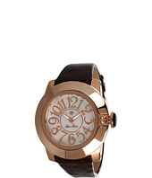 Glam Rock - SoBe 44mm Rose Gold Plated Watch with Patent Strap- GR32052