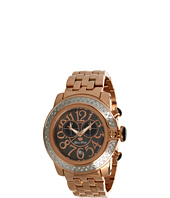 Glam Rock - SoBe 44mm Rose Gold Plated Watch with Diamonds- GR32186D