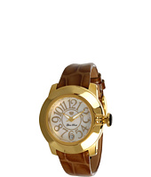 Glam Rock - Lady SoBe 40mm Gold Plated Watch with Patent Strap- GR31010