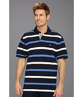 IZOD - Short Sleeve Oxford Pique Stripe Polo Shirt
