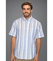 IZOD - S/S Stripe Linen Button Down Shirt