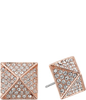 Vince Camuto - Rose Gold Pave Pyramid Studs