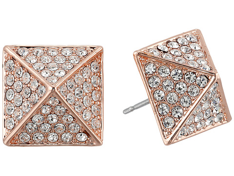 Vince Camuto Rose Gold Pave Pyramid Studs