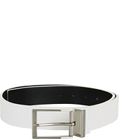 Calvin Klein - 35mm Reversible Flat Strap Semi-Shine, Textured Leather to Smooth