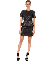 McQ - Leather Peplum Dress