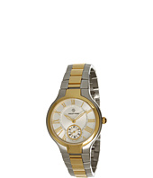 Philip Stein - Small Round Two-tone Gold Plated Watch on Stainless Steel Bracelet