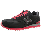 New Balance Classics ML574 Black, Red Shoes