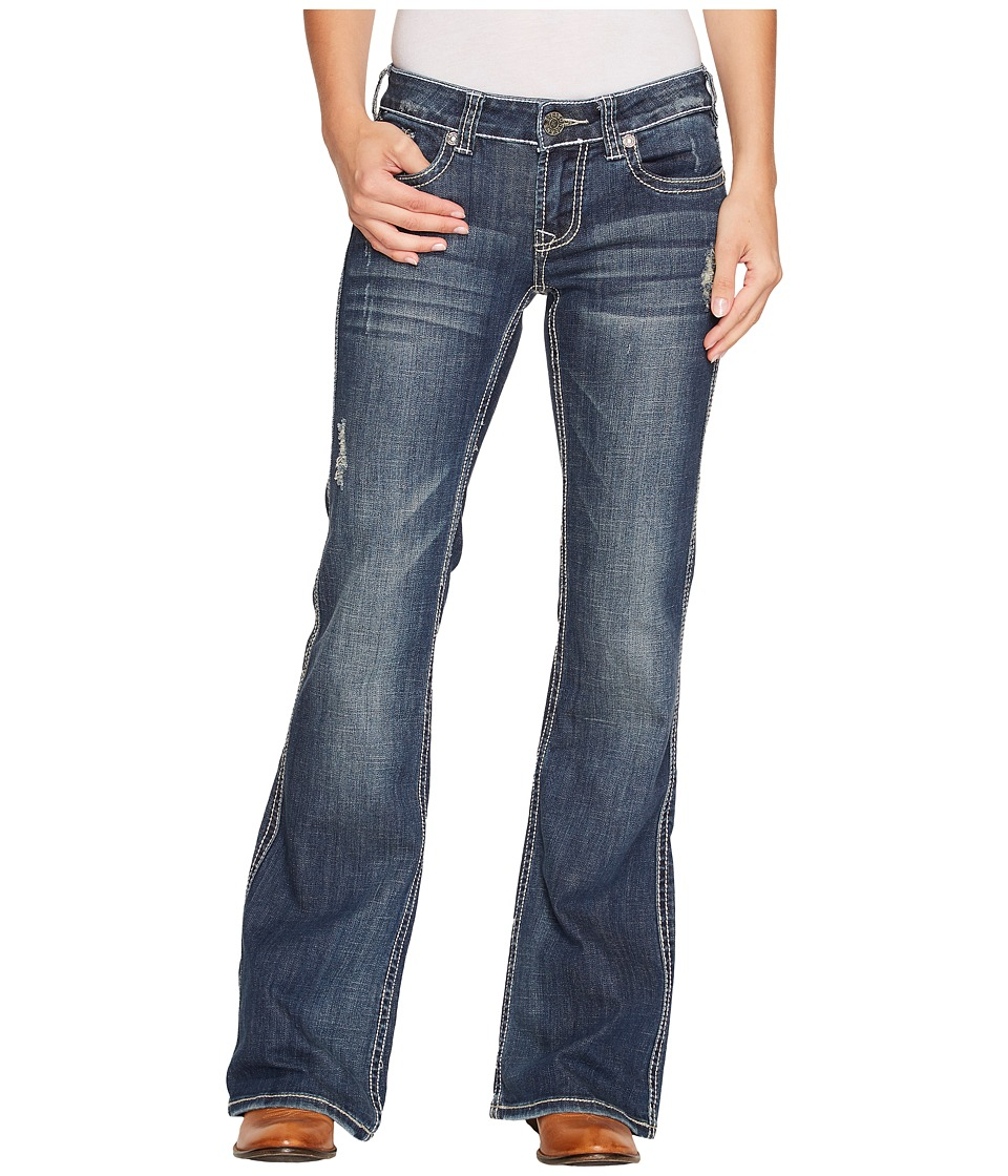 Stetson 816 Fit Medium Wash Thick Contrast Top Stitch (Bl...