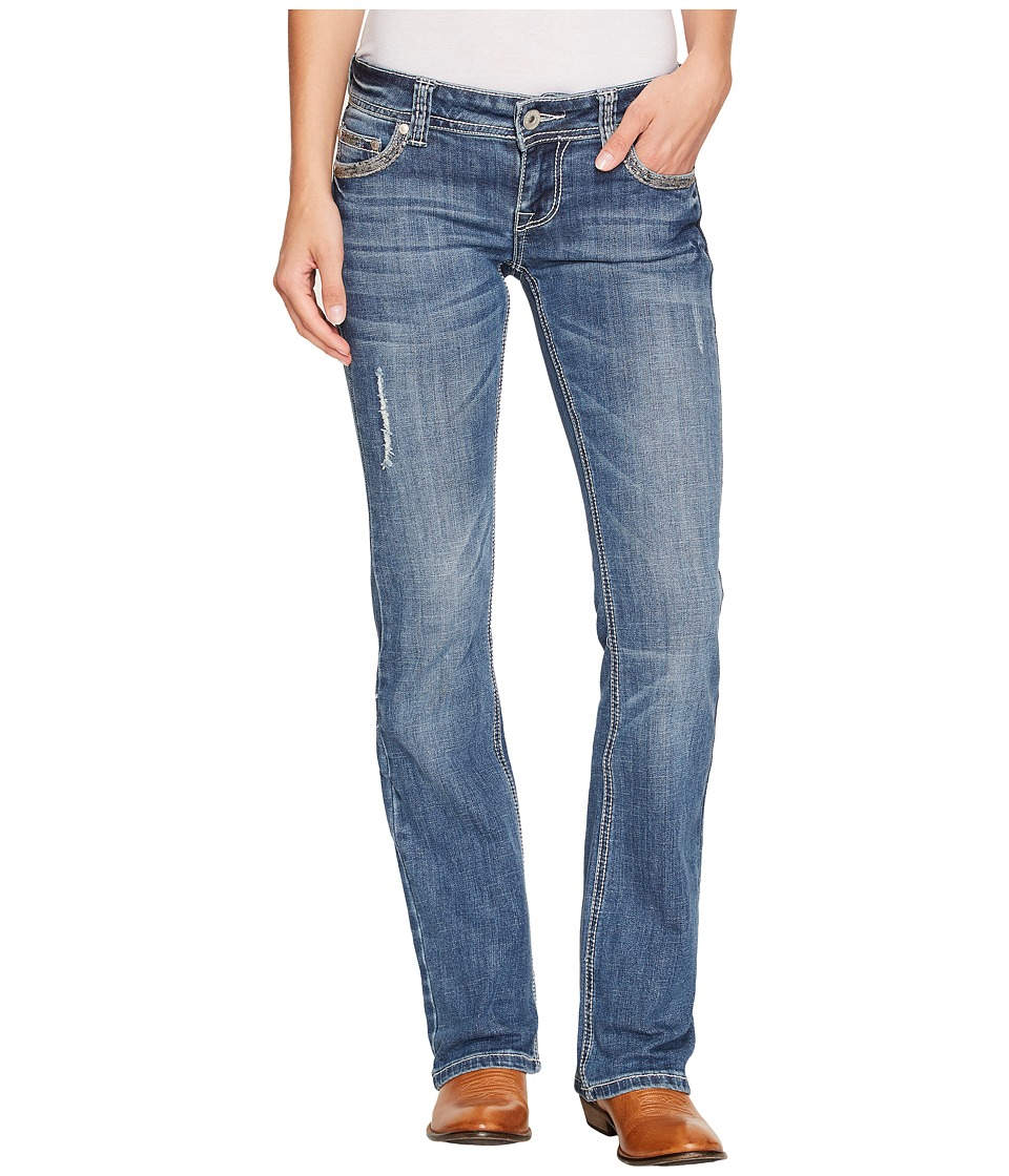 Stetson - Stetson 818 Fit Medium Light Wash with Bling Bling