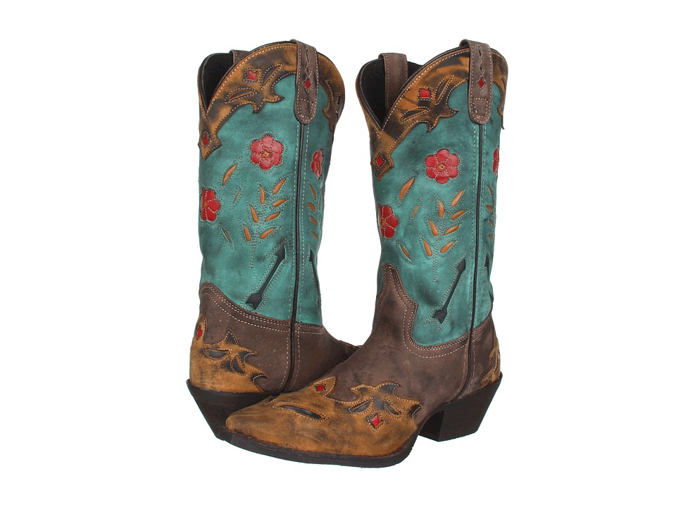 Laredo - Miss Kate (Tan/Brown/Teal) Cowboy Boots
