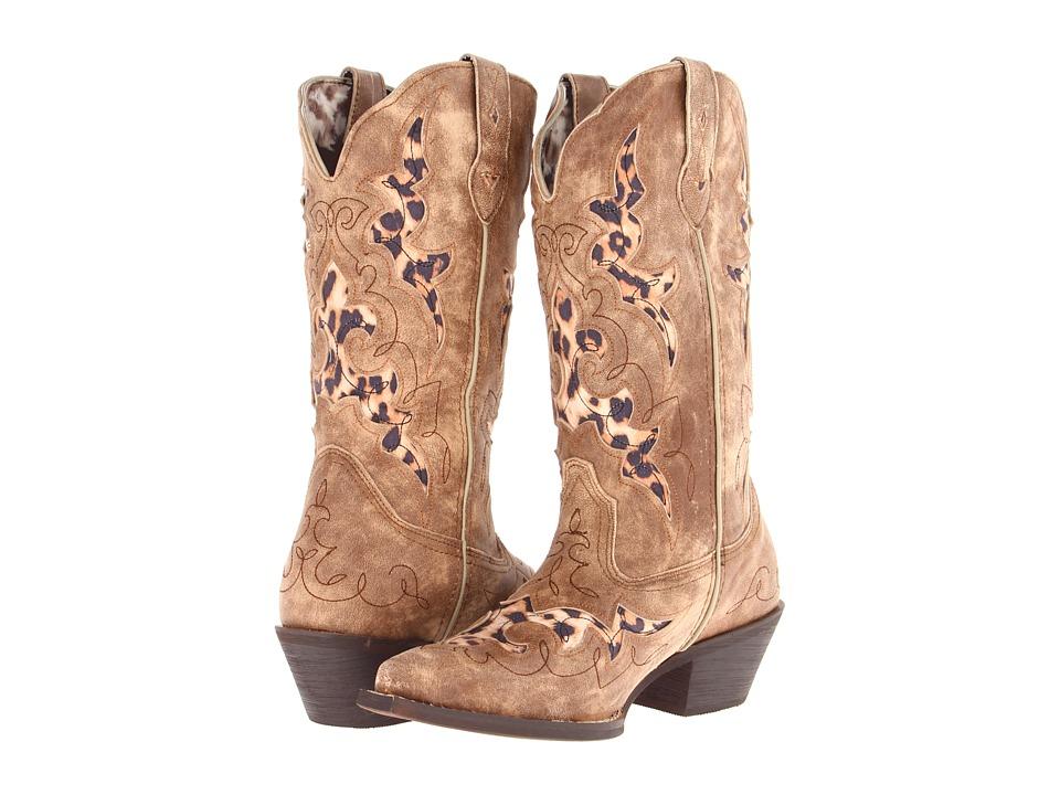 Laredo - Aphfrika (Tan w/ Leopard Underlays) Cowboy Boots