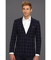 Moods of Norway - Super Slim Oluf Tonning Navy Check Suit Jacket