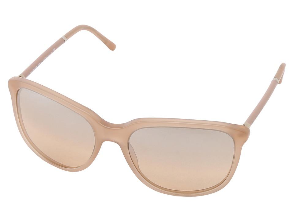 Burberry BE4139 Nude/Brown Mirror Bronze Plastic Frame Fashion Sunglasses