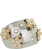 GUESS - Domed Band With Flowers And Crystals Ring