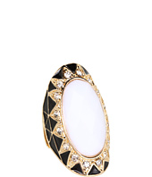 GUESS - Oblong Faceted Stone Art Deco Ring