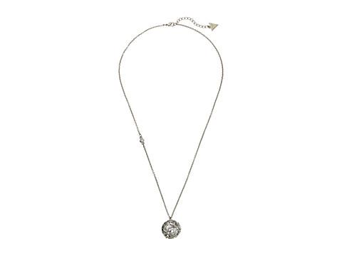 GUESS Cutout Flower Ball Pendant - Silver