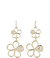 GUESS - Double Flower Drop Earrings