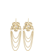 GUESS - Fower Earrings with Chain Drape