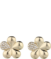 GUESS - Flower With Crystal Button Earrings